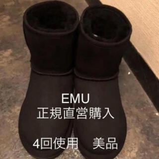 エミュー(EMU)の値下不可 4回着 正規直営 EMU stinger lo ムートンブーツ 22(ブーツ)