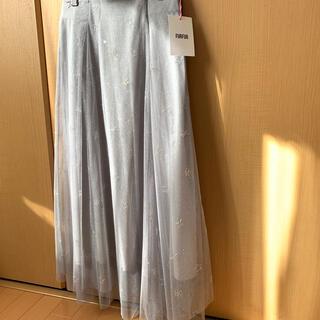 ファーファー(fur fur)の【FURFUR】Tatoo Star刺繍スカート(ロングスカート)