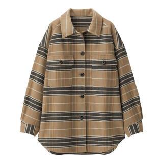 GU - GU チェックオーバーサイズシャツジャケット