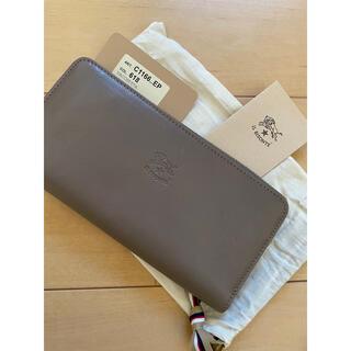イルビゾンテ(IL BISONTE)のトルトラ イルビゾンテ  ラウンドファスナー 長財布 新品未使用 グレー 618(財布)