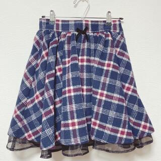 アンクルージュ(Ank Rouge)のチェック スカート(ミニスカート)