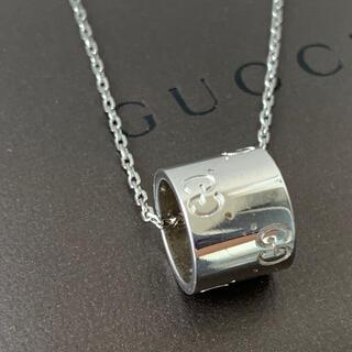 Gucci - GUCCI⭐︎アイコンネックレス ホワイトゴールド