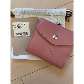 イルビゾンテ(IL BISONTE)のペペローザ イルビゾンテ  がま口二つ折り財布 バケッタスムースレザー  新品(財布)