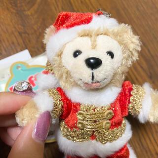 ダッフィー - レア旧顔ダッフィーぬいぐるみストラップクリスマスサンタ ディズニーシー限定