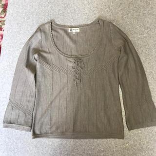 ミッシェルクラン(MICHEL KLEIN)の M I CHEL  KLENの薄いグレーのウール100%ニット(ニット/セーター)