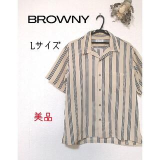 ブラウニー(BROWNY)の半袖シャツ ストライプ 美品(シャツ)