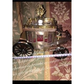 アンティーク 美馬車 エレガント デカンタージュ オブジェ 置物 飾り ロココ調(彫刻/オブジェ)