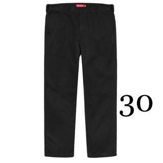 シュプリーム(Supreme)の30 Supreme Work Pant ワーク パンツ ブラック 黒(ワークパンツ/カーゴパンツ)