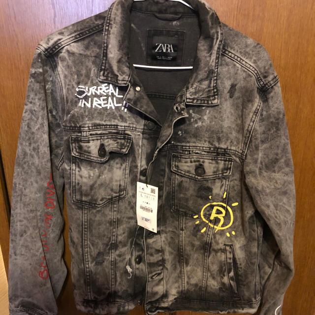 ZARA(ザラ)のZARA タイガー デニムジャケット Gジャン サイズL メンズのジャケット/アウター(Gジャン/デニムジャケット)の商品写真