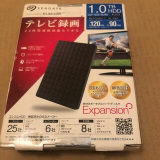 エレコム(ELECOM)の外付けポータブルハードディスク 1.0TB   ELECOM SEAGATE  (テレビ)