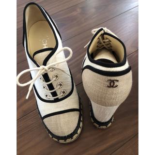 CHANEL - CHANEL シャネル キャンバス ブーツ 靴