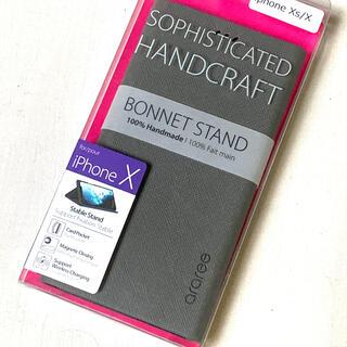 新品 未使用【iPhoneXS/X ケース】Bonnet Diary 手帳型(iPhoneケース)
