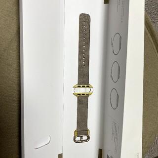 アップル(Apple)のApple Watch 38mm 40mm イエローライトグレイウーブンナイロン(その他)