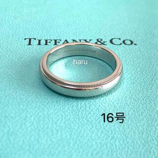 Tiffany & Co. - TIFFANY&Co.ティファニー ミルグレインリングPT950 9g 16号