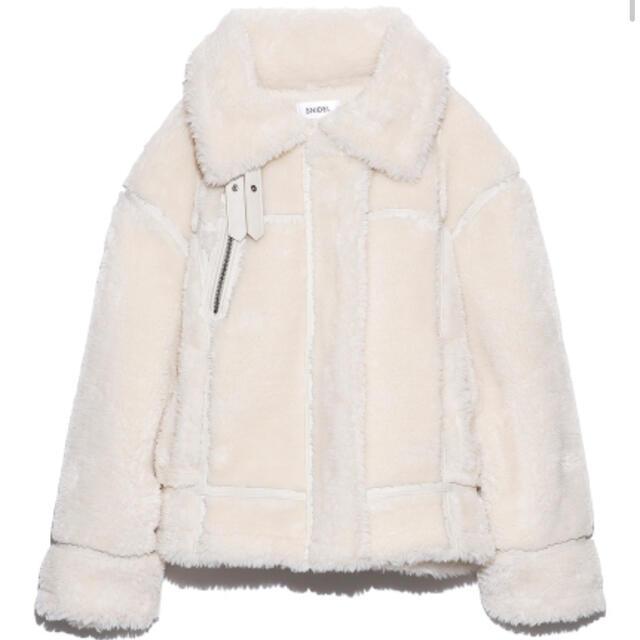 snidel(スナイデル)のsnidel♡エコファーブルゾン新品タグ付 レディースのジャケット/アウター(ブルゾン)の商品写真