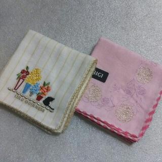 LULU GUINNESS - ルルギネス&BIGI☆ガーゼハンカチ2枚セット