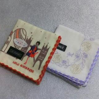 ルルギネス(LULU GUINNESS)のルルギネス&BIGI☆ガーゼハンカチ2枚セット(ハンカチ)