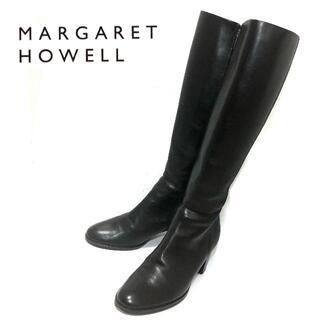 MARGARET HOWELL - 美品 Margaret Howell 22.5cm 本革製ロングブーツ 黒