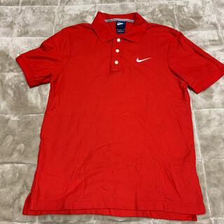 ナイキ(NIKE)のナイキ ポロシャツ 赤 Mサイズ(ポロシャツ)