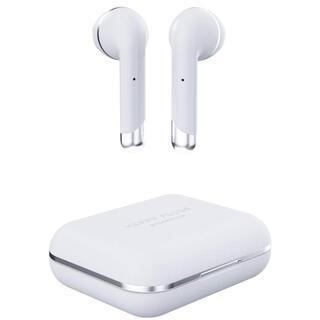 新品】HAPPY PLUGS Bluetoothイヤホン 白(ヘッドフォン/イヤフォン)