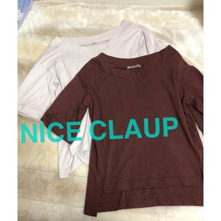 NICE CLAUP - Tシャツ 2点