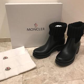 モンクレール(MONCLER)の新品未使用❣️モンクレール ショート ブーツ ginette ブラック 黒 39(ブーツ)