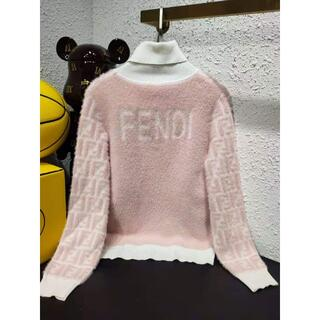 フェンディ(FENDI)の【FENDI】FENDIロゴモヘアセーター/ロゴ/ピンク(ニット/セーター)