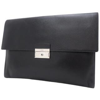 プラダ(PRADA)のプラダ クラッチバッグ サフィアーノレザー ブラック黒 40800059608(セカンドバッグ/クラッチバッグ)
