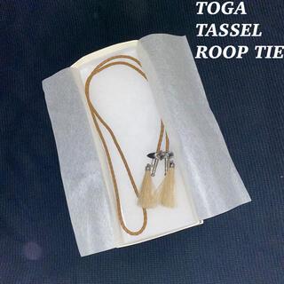 トーガ(TOGA)のTOGA タッセル メタル ループ タイ 韓国系 モード ドレス (ネックレス)
