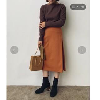 ヴィス(ViS)の【EASY CARE】ウォッシャブルフラノタイトスカート キャメル(ひざ丈スカート)