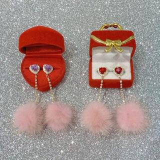 シロップ(syrup.)のRoseMarie seoir heart fur earring(イヤリング)