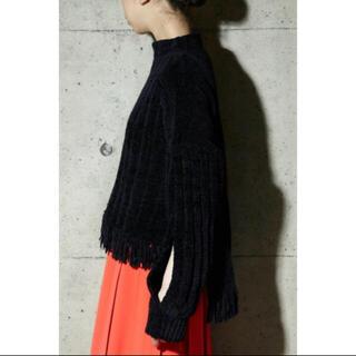パメオポーズ(PAMEO POSE)のSLIT SLEEVE MALL KNIT TOP ¥17,050 新品タグ付き(ニット/セーター)