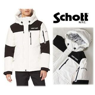 ショット(schott)の新品【ショット】2TONE ダウンパーカー ダウンジャケット 白 L(ダウンジャケット)