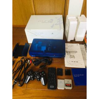 PlayStation2 - 希少 プレステ2 オーシャンブルー 動作確認済 箱取説付 ソフト28本付 PS2