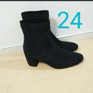 ユメテンボウ(夢展望)の新品 24センチ チャンキーヒール ショートブーツ (ブーツ)