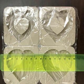 ハート タグ型 シリコンモールド  アロマワックスバー サシェ アロマストーン(各種パーツ)