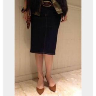 アパルトモンドゥーズィエムクラス(L'Appartement DEUXIEME CLASSE)のお値下げ★L'Appartement★美品アパルトモンデニムひざ丈タイトスカート(ひざ丈スカート)