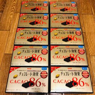メイジ(明治)の本日限定価格⭐︎チョコレート効果 86%✖️10箱 激安(菓子/デザート)