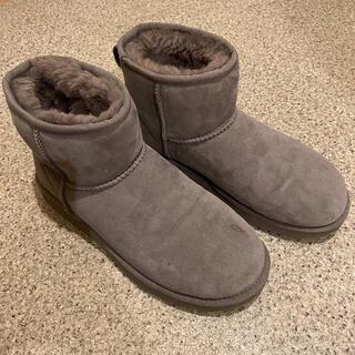 アグ(UGG)のアグ ムートンブーツ グレー 26cm(ブーツ)