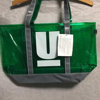 アンダーカバー(UNDERCOVER)の新品未使用 UNDERCOVER Uロゴ ビニールトートバッグ グリーン(トートバッグ)