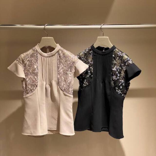 snidel(スナイデル)のレースエンブロイダリーブラウス(ブラウス+キャミソール) レディースのトップス(シャツ/ブラウス(半袖/袖なし))の商品写真