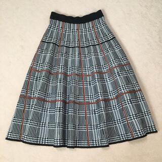 ブラーミン(BRAHMIN)のチェックスカート ロングスカート ニット(ひざ丈スカート)