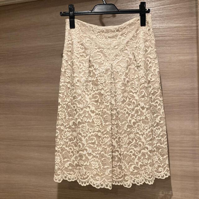 ANAYI(アナイ)のANAYI(サイズ38)上品レーススカート レディースのスカート(ひざ丈スカート)の商品写真