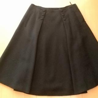 モスキーノ(MOSCHINO)のモスキーノ  スカート  黒(ひざ丈スカート)