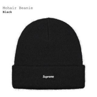 シュプリーム(Supreme)のSuprememohair beanieブラックニット帽 モヘア ビーニー(ニット帽/ビーニー)