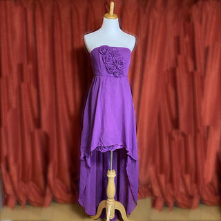 ⭐️値下げ⭐️【新品・未使用】パープル薔薇ドレス(ロングドレス)