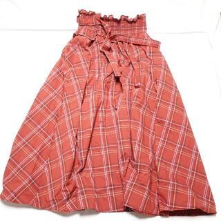 ジルスチュアート(JILLSTUART)の☆JILLSTUART☆赤チェック柄のスカート♪レディースF(ひざ丈スカート)