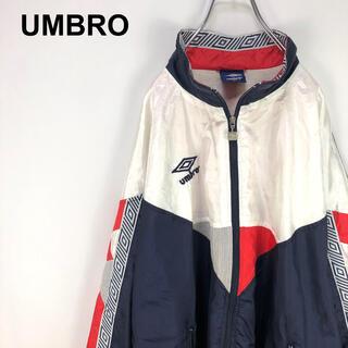 アンブロ(UMBRO)のアンブロ☆刺繍ロゴ サイドライン ロゴライン マルチカラー ナイロンジャケット(ナイロンジャケット)