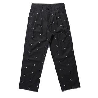 NOMANUAL NM PATTERN PANTS - BLACK パンツ