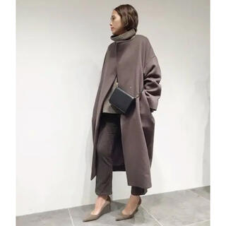 L'Appartement DEUXIEME CLASSE - AP STUDIO Over Sized LAMB Coat◆ブラウン
